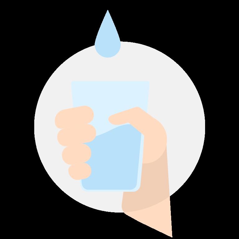 modo uso bicchiere acqua